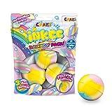 CRAZE INKEE Rainbow Multipack DREI Duftende Badebomben mit 3 verschiedenen Farbschichten und Marshmellow-Duft Farbbad 25840, bunt