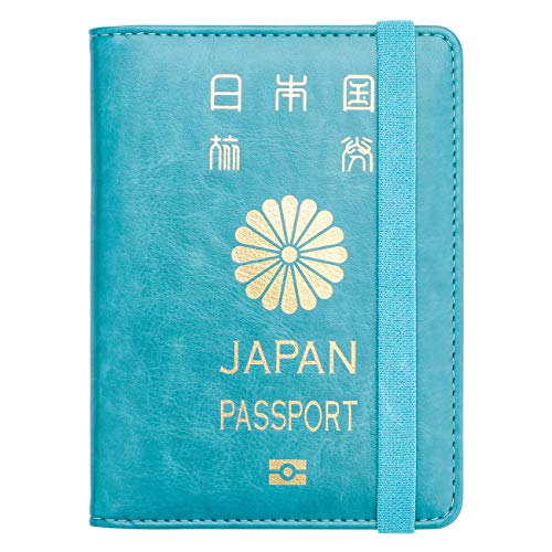 WALNEW RFID パスポートカバー パスポートホルダー パスポートケース スキミング防止 ベルト付き 旅行パスポート 財布 ウォレットケース
