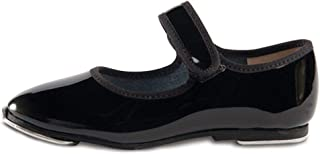 Toddler Little Girls Black Patent Strap Tap Shoe 5.5-1