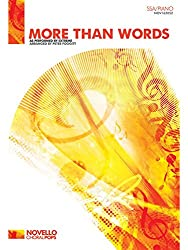 Extreme: More Than Words (SSA/Piano). Partitions pour SSA, Accompagnement Piano, Chorale