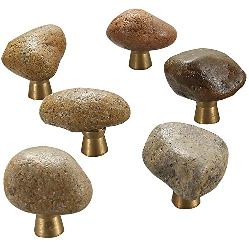 Tiradores de puerta estilo vintage de piedra natural de forma irregular para armario de cocina, tiradores de muebles de armario, tiradores de cajón