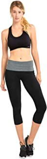 Women's High Waist Tummy Control Ultra Soft Cotton Capri Yoga Pants Leggings
