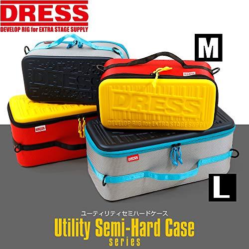 (DRESS)ユーティリティセミハードケースペグケースアウトドア収納ケースレッドL