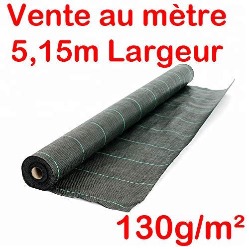 Vente au mètre/Largeur 5,15m Toile Bache de paillage tissée Anti-Mauvaises Herbes 130g/m2