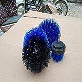 Taladro eléctrico cepillo eléctrico cepillo de limpieza de tres piezas de herramienta del hogar Set-SkyBlue, celeste (Color : Blue)