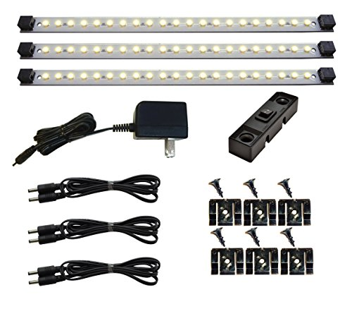 Under Cabinet Lighting LED | Pro Series 21 LED - Deluxe Kit - 3 Light Panels 3000 Kelvin (Warm White)
