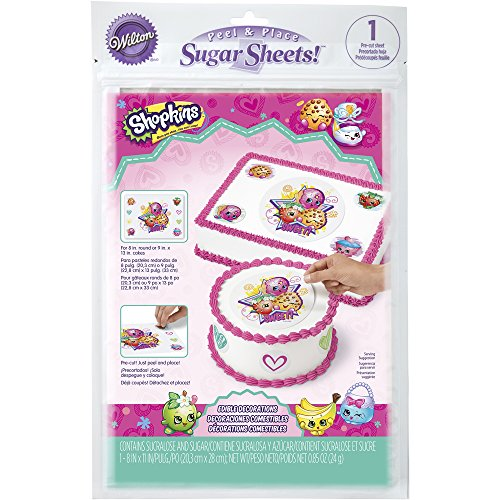 Wilton Shopkins Peel and Place Sugar Sheets, Assorted