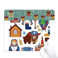 ロシアの国家の象徴のランドマークのパターン ゲーム用スライドゴムのマウスパッドクリスマス