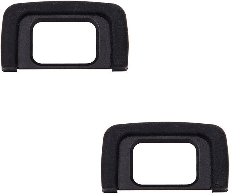 JJC Visor Ocular Eyecup para Nikon D5600 D5500 D5400 D5300 D5200 D5100 D5000 D3400 D3300 D3200 D3100 D3000 Cámaras Reemplazo de Nikon DK-25 Eyepiece (Lote de 2)