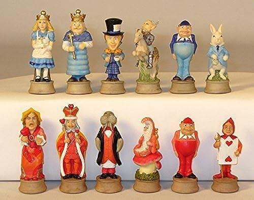 buscando agente de ventas Alice In Wonderland Resin Chess Set by WorldWise WorldWise WorldWise Imports  suministramos lo mejor