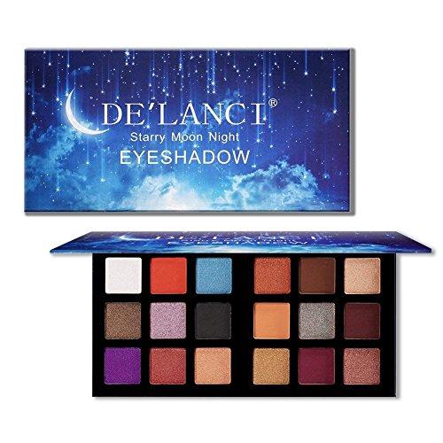 DE'LANCI Palette per ombretti 18 colori Ombretto in polvere Make Up Ombretto impermeabile Palette altamente pigmentate Cosmetici