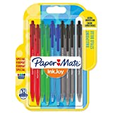 Paper Mate InkJoy 100RT Lot de 10 Stylos bille rétractable pointe moyenne Couleurs Standard
