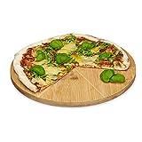Relaxdays Assiette à pizza bambou assiette présentation plat bois -diamètre 6...