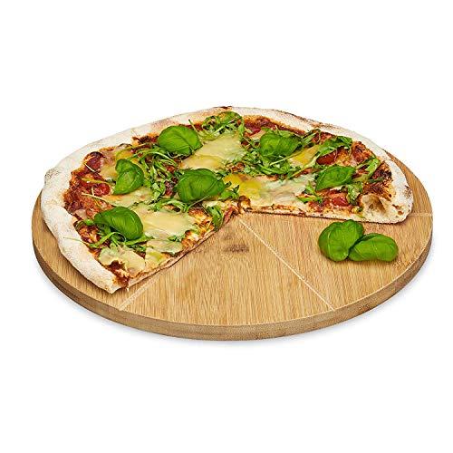 Relaxdays -   Pizzateller Bambus