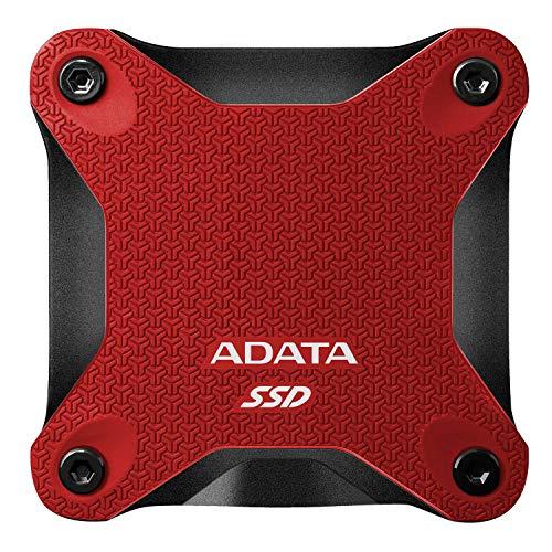ADATA SD600Q - 480 GB, externe Solid-State-Drive mit 3D-NAND-Flash, 2.5 Zoll, USB 3.2 Gen.1, rot