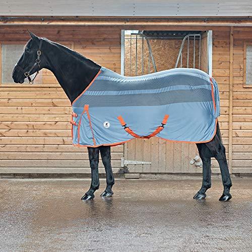 Derby House PRO - Tappeto refrigerante in Rete, Faded Denim Living Corallo, 182,9 cm