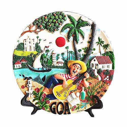 MUYU Magnet Goa India Dekoration für Zuhause, Büro, Café, Tisch, Schreibtisch, Dekoration, Ornamente, Handwerk, Reise, Souvenir, Geschenkkollektion