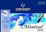 Bloc Encolado, A3, 12 Hojas, Canson Montval, Grano Fino 300g