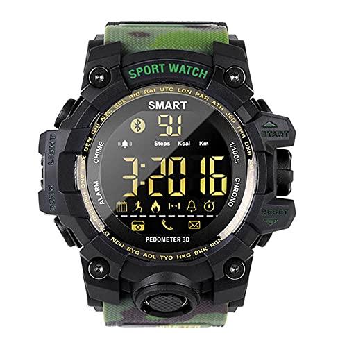 Reloj deportivo inteligente para exteriores, multifunción, resistente al agua, con contador de pasos, calorías, cronómetro, recordatorio de SMS, 4