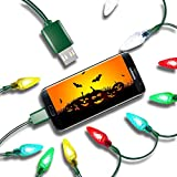 LED Christmas Lights Micro USB Charging Cable, 2020 Upgraded USB and Bulb Charger 50inch 10LED Compatible with Galaxy S7 S6 Edge, Kindle, Android & Windows Phones, Xbox, PS4, MP3