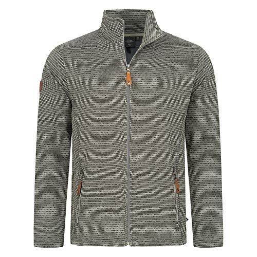 Linea Primero Strickfleece Strickjacke Strick Fleecejacke Outdoor Sweatshirt Herren LACEWOOD Men Farbe grau, Größe 50