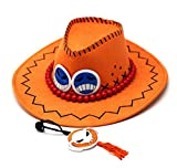 Gumstyle One Piece Portgas D Ace Anime Cosplay Costume Cowboy Hat