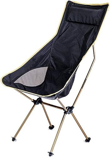 GH-YS Chaise Pliante Extérieure, Chaise De Lune Portative Ultra Légère De Pêche De Plage D'alliage D'aluminium