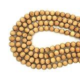 CarpenterC 200 Stücke 6mm Wunderschöne Natürliche Runde Polierte Rosenholz Lose Perlen für Schmuck Machen DIY Handgefertigte Handwerk