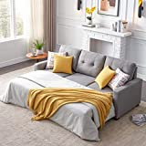 Reversible Sleeper Sectional Sofa Couch, L-Shaped Corner Sofa-Bed with Storage, 3-seat Sectional Corner Couch