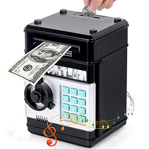 Eutionho Spardose für Kinder, Spardose Passwort Sparschwein Spielzeug Elektronische ATM Geldautomat Geldschein Münzen Geschenke für Kinder Automatische Banknoten Sparschwein Kinderspielzeug