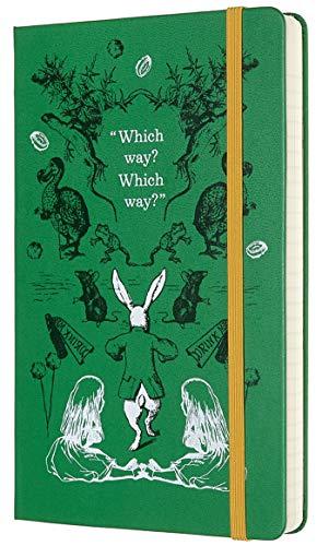 Moleskine Agenda Giornaliera 12 Mesi 2020 Alice nel Paese delle Meraviglie Special Edition Verde con Copertina Rigida e Chiusura ad Elastico, Dimensione Large 13 x 21 cm, 400 Pagine