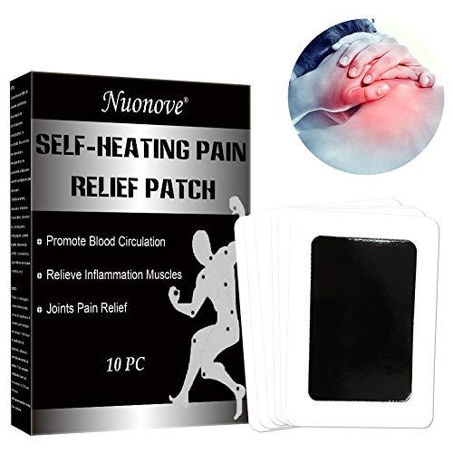 Pain Relief Patch, Patch per Alleviare il Dolore, Toppa di Calore autoadesiva, Patch auto-riscaldante per la schiena, per combattere reumatismi e dolore alle giunture e alla schiena, 10 PZ