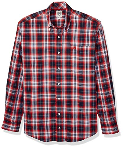 Cinch Men's Classic Fit Shirt, Haute Red Plaid, M