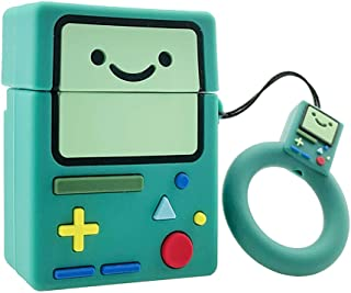 MOLOVA Case for Airpods 1&2 Case,Smile Game Boy Shape AirPods Accessories Kits,Soft Silicone 3D Cute Funny Cool Cartoon Character Kawaii Airpods Cover for Kids Teens Boys Girls Men(Teal Switch)