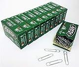 1.000 Fermagli Zincati Leone Dell'Era N. 6 (58 mm), Stecca da 10 scatole da 100 pezzi...