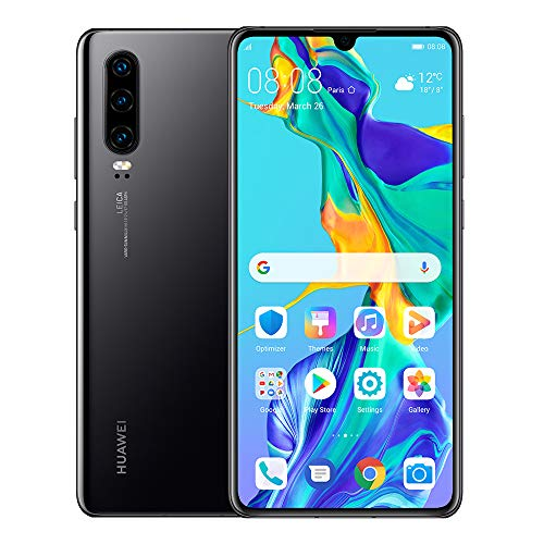 Huawei P30 128GB+6GB RAM (ELE-L29) 6.1' LTE Factory Unlocked GSM Smartphone (International Version) (Black)