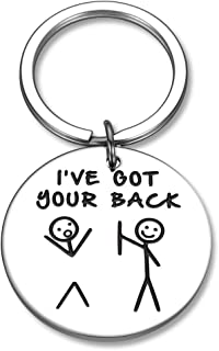 Funny Friendship Gifts Keychain for Best Friend BFF Sisters Birthday Christmas Valentine Gifts for Daughter Son Boys Girls...