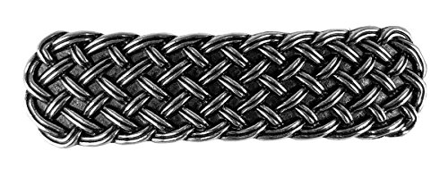 Woven Celtic Hair Clip, Medium Hand Crafted Metal Barrette Made in the USA with a 70mm Imported French Clip by Oberon Design