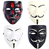 TKYGU 4 Pack V for Vendetta Guy Mask Halloween Mask Costume Cosplay Masquerade Prop Party Masks
