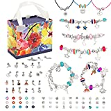Beostar 93pcs Charm Bracelet Making Kit, DIY Beaded Jewelry Making Kits Supplies with Necklace Cord Snake Chain and Gift Storge Box, Best Gift for Girls Teens on Birthday