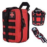 Bolsa médica táctica, bolsa de botiquín de primeros auxilios, utilidad militar Molle IFAK Pouch EMT Emergencia Rip-Away Outdoor Camping Travel Medical Survival Tool Bolsa de caza