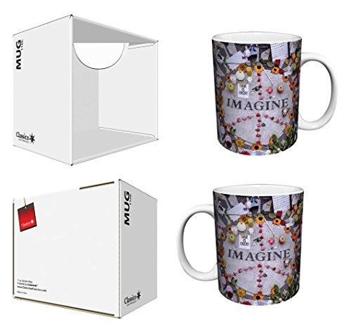 Imagine Peace Flowers Memorabilia (John Lennon, The Beatles) Photography Decorative Art Ceramic Boxed Gift Coffee (Tea, Cocoa) 11 Oz. Mug