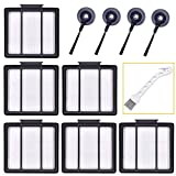 Sauberlife 11Pack Replacement Parts HEPA Filter and Side Brushes for Shark ION Robot S87 R85 RV700_N RV720_N RV750_N RV850 RV850BRN RV851WV RV850BRN/WV (6filter+4side Brushes+1clean Brush)
