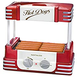 small Nostalgia HDR8RR Hot Dog Warmer 8 Standard size, 4 feet long, roll capacity 6, stainless steel …