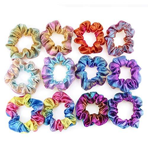 huyiko - Juego de 6 Diademas para el Pelo de Dos Colores, elásticos para la Cabeza, Flores y niñas, Accesorios para el Cabello