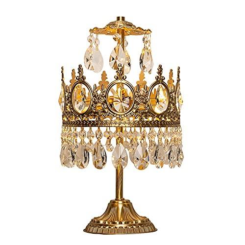 A-myt' una Variedad de Fuentes de luz están dispo Lámpara de Mesa de Estilo Europeo Medieval de la Mesa de Noche lámpara de mesita de Noche francés Retro Bronce Cristal diseñador Creativo lámpara de