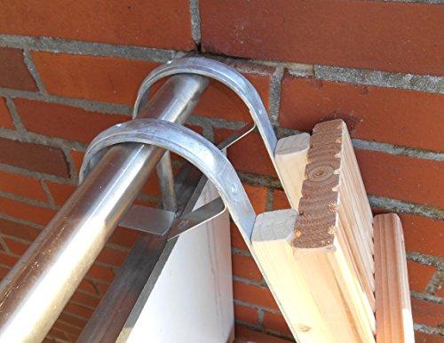 Jennys Tiershop 2 Meter! Katzenleiter/Katzentreppe mit einem Verbindungsstück. für Balkon etc. Mit gr. Bügeln! Douglasie (1a)