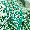 momomus Arazzo Mandala - Colorato - 100% Cotone, Grande, Multiuso - Arazzi da parete grandi - Stampe / Arredamento / Decorazioni per la Casa, Camera da letto o Muro - Telo Xxl, Verde 210x230 cm #3