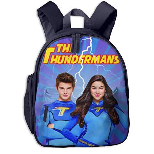 JKSA The Cute Thundermans Mochila Mochilas Escolares de Moda Mochila Linda para niños niñas, Azul Marino, Talla única