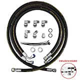 Transmission Cooler Lines Hoses Fittings Adapters Compatible with 2006 2007 2008 2009 2010 Chevy GM GMC 6.6L Duramax Allison Transmission Lines Repair Kit
